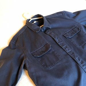 Wallace & Barnes J. Crew work shirt. Navy blue. XL